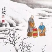 美图欣赏:禅意画家吴大恺创作的禅意雪景画图配上描写雪景的诗句,很有意境